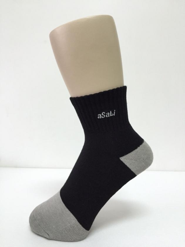 B003  asali 1/2竹炭氣墊襪 [ 入門款 ] 1