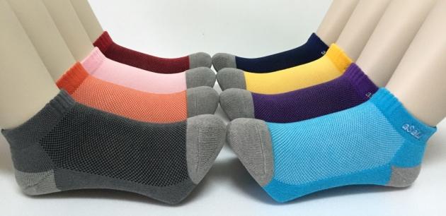 B015  asali  炭纖維彩色運動短襪 [ 休閒款 ] 3