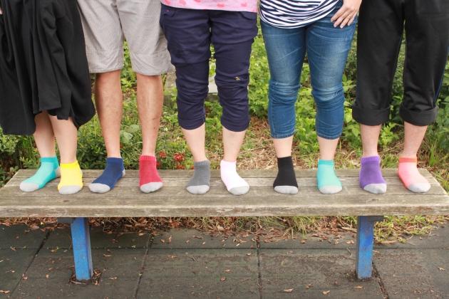 B015  asali  炭纖維彩色運動短襪 [ 休閒款 ] 1