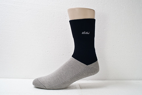 B006  asali寬口無痕竹炭氣墊襪 1
