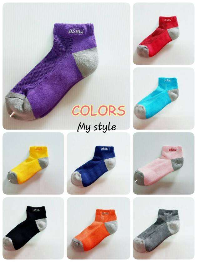 B015  asali  炭纖維彩色運動短襪 [ 休閒款 ] 2